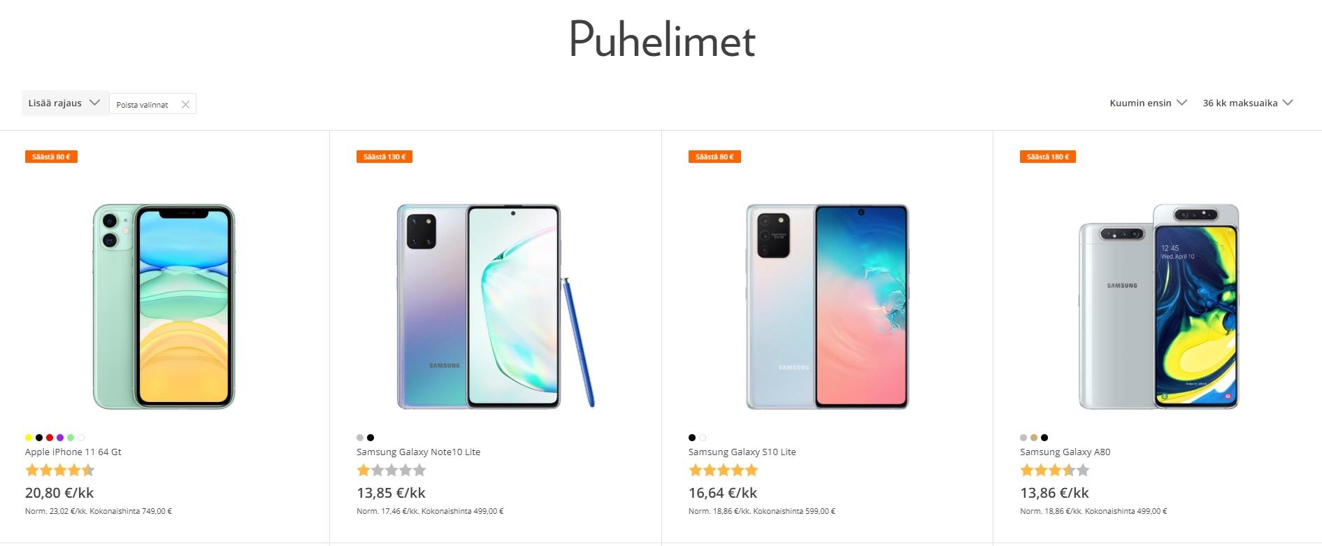Osta uusi älypuhelin